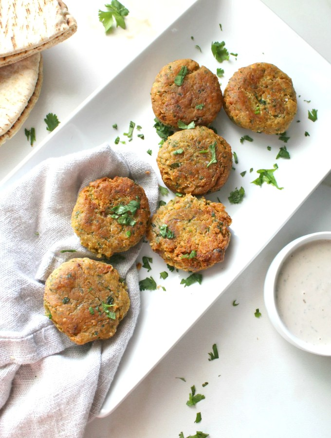 Making this Mediterranean favorite at home is quick and easy with this Simple Crispy Vegan Falafel recipe. Perfectly crisp on the outside and moist on the inside | ThisSavoryVegan.com #thissavoryvegan #falafel #mediterraneanrecipes