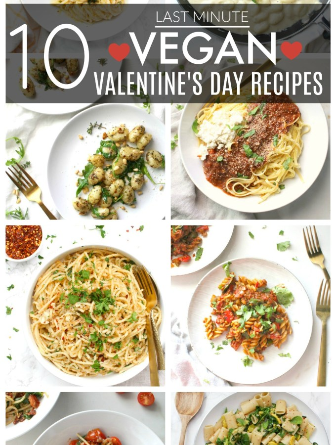 Still not sure what to make for your special somebody on Valentine's Day? Check out these 10 Last Minute Vegan Valentine's Day Recipes for inspo | ThisSavoryVegan.com #thissavoryvegan #vegan #valentinesdayrecipes