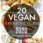 Get ready for the big game with these 20 Vegan Super Bowl Snack Ideas! From Buffalo Cauliflower Wings to Avocado Egg Rolls, you will have plenty of inspo   ThisSavoryVegan.com