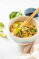 These Vegan Ramen Noodles with Mushrooms & Bok Choy are simple, veggie-packed and totally delicious. Perfect vegan dinner | ThisSavoryVegan.com #vegan #veganramen #vegannoodles