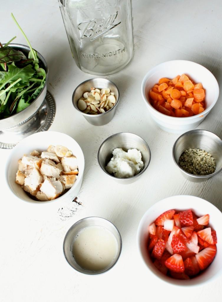 salad in a jar ingredients