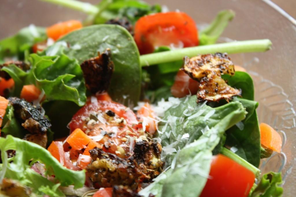 zucchini croutons