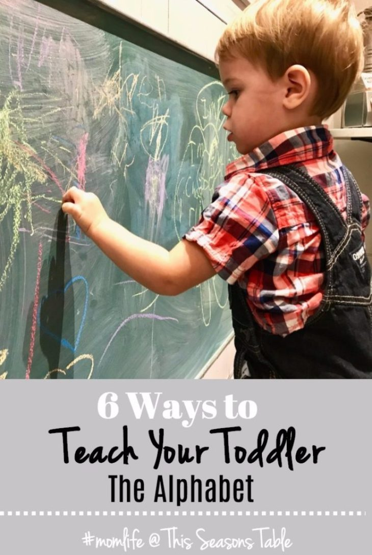 Six easy tips to engage your toddler in activities to gain a better understanding of the alphabet - and let them think it's their idea. #parentingtips #toddlertips #learnthealphabet #teachyourtoddler #learningtoolsfortoddlers