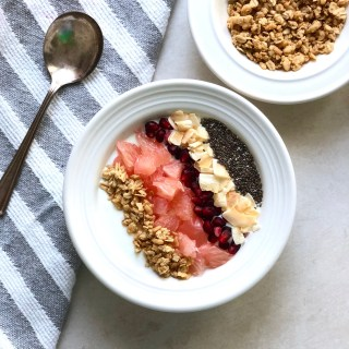 Healthy Greek Yogurt Breakfast Bowl with Winter Fruit
