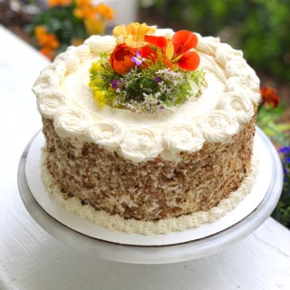Coconut Pecan Rainbow Carrot Cake