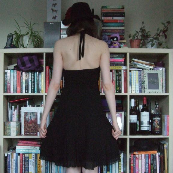 black halterneck dress, black dress, halterneck dress, little black dress, dorothy perkins dress, dorothy perkins halterneck dress, dorothy perkins black dress