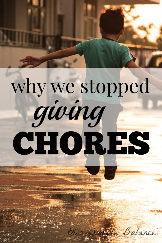 should we give chores, do kids need chores, alternative to chores