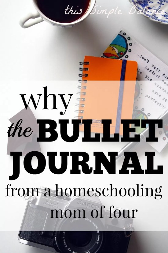 homeschool mom bullet journal