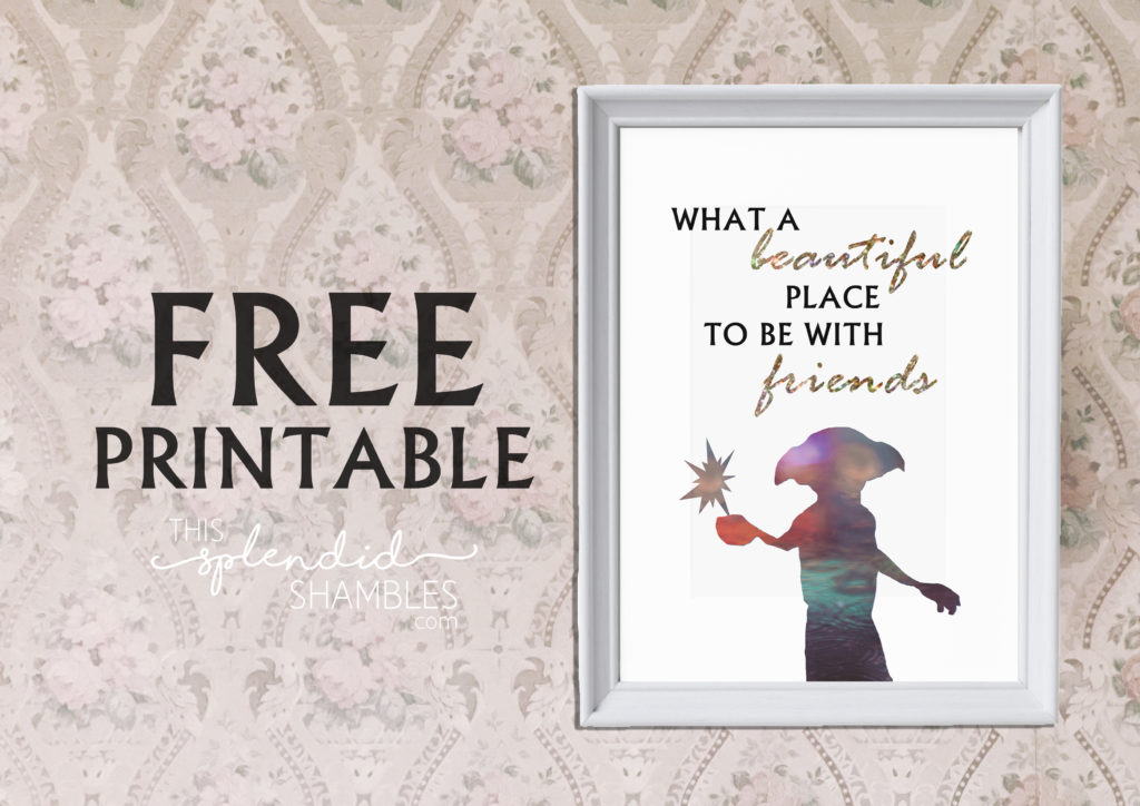 Free Printable In Celebration Of Dobby's Birthday This