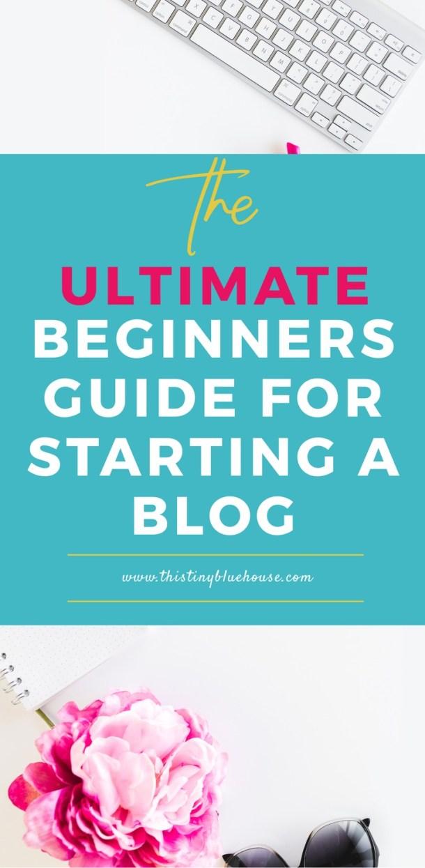 The ULTIMATE beginners guide for starting a blog + a bonus FREE profitable blog check list. #blogging #blog #sidehustle #lifestyleblogs #parentingblogs #mommyblogs #makemoneyblogging