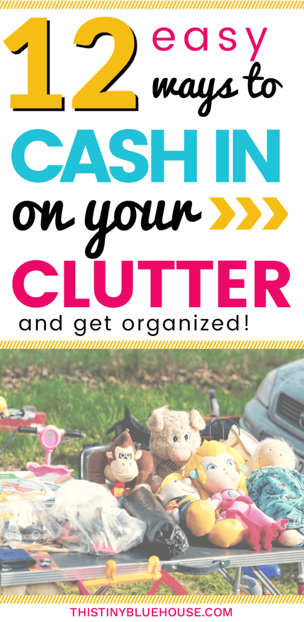 Tips & Tricks to help you cash in on your clutter while de-cluttering and organizing your home. Earn a little extra cash by selling stuff that you're literally no-longer using. ideas to make money   ways to make money   easy ways to make money   money making tips   de-cluttering 