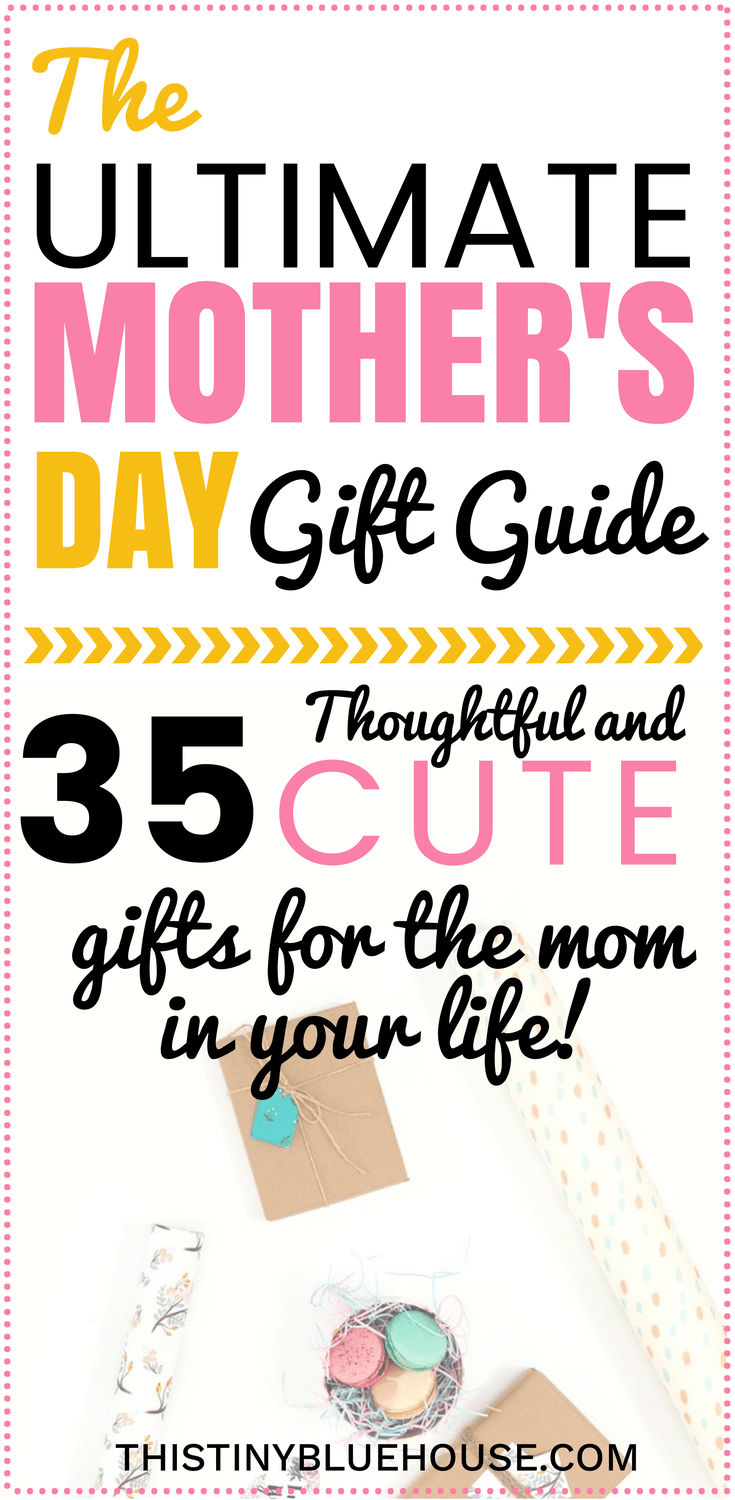 The ultimate Mother's Day Gift Guide. These 35 unique, affordable and thoughtful gifts are guaranteed to make the mum in your life feel special. Mothers Day | Mother's Day Gift Ideas | Mother's Day Gift Guide | Gift Guide for Mom's | Gift Guide for Her | Gifts for mom | Mother's Day Gift Ideas |