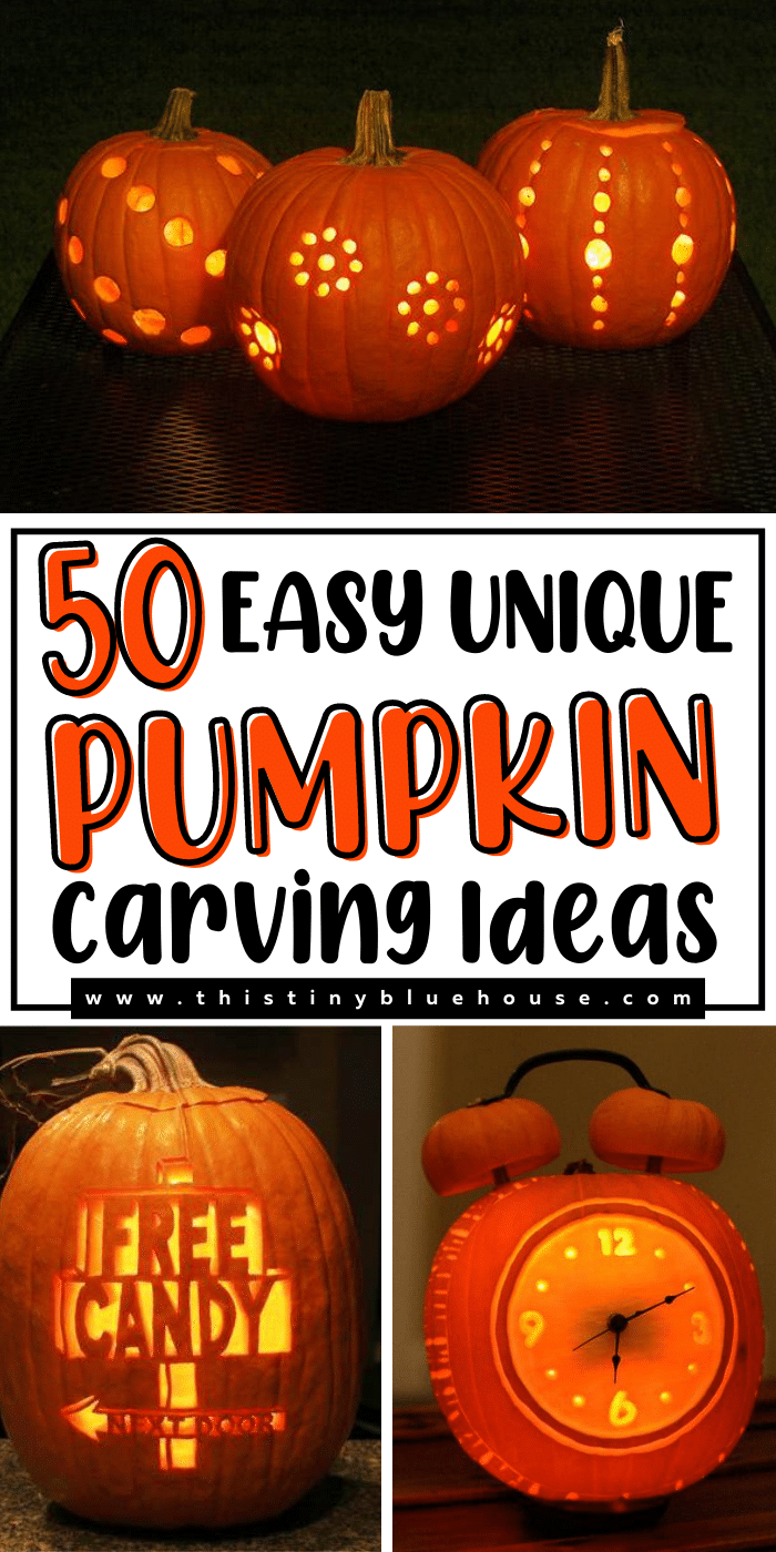 50 Easy & Unique Pumpkin Carving Ideas