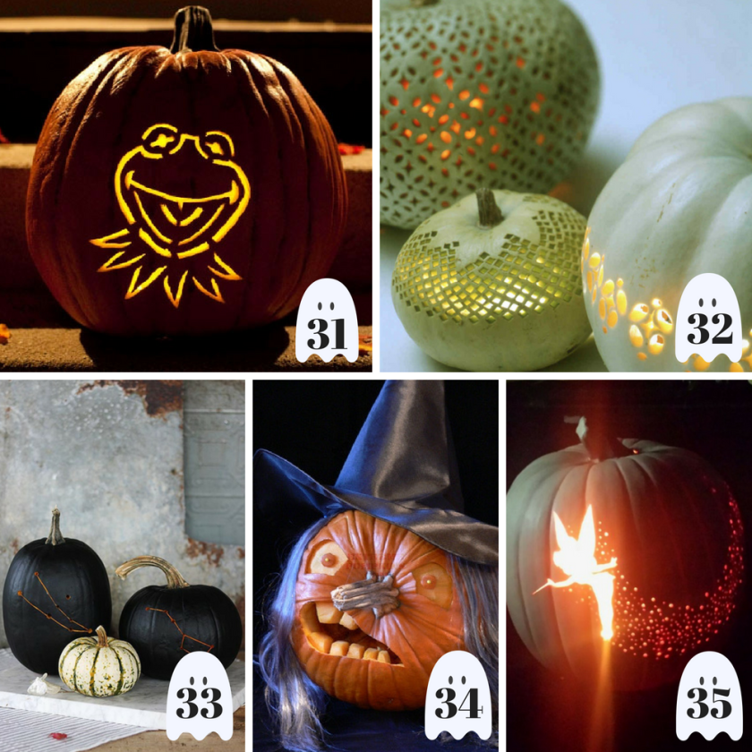 50 unique creative pumpkin carving ideas you've gotta try this Halloween. From scary to adorable there's a pumpkin for everyone! #PumpkinCarvingIdeas #PumpkinCarvingIdeasEasy #PumpkinCarvingIdeasScary #PumpkinCarvingIdeasCreative #PumpkinCarvingIdeasCute #PumpkinCarvingIdeasDIY #PumpkinCarvingIdeasAwesome
