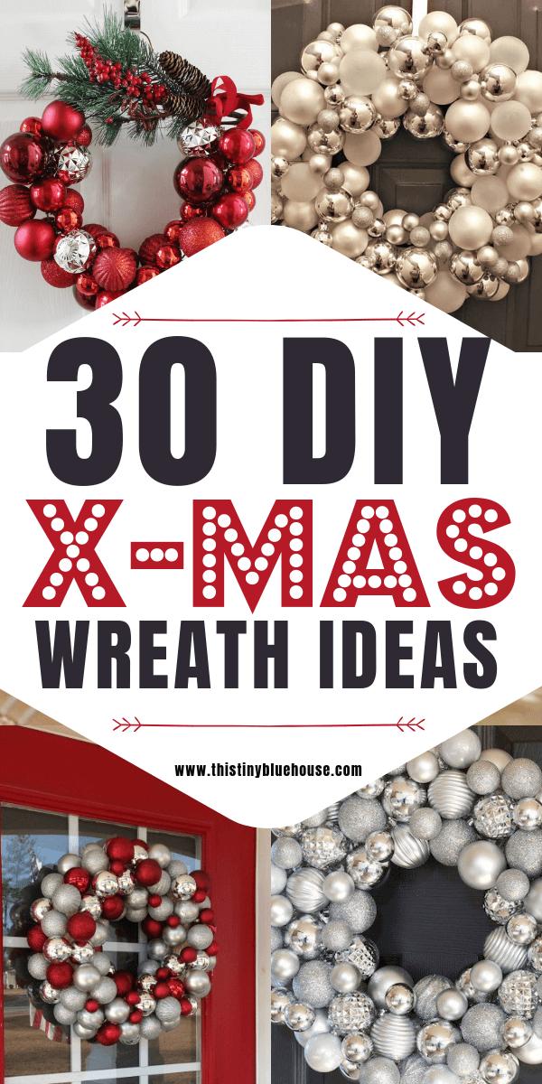 30 Gorgeous Diy Dollar Store Christmas Wreath Ideas This