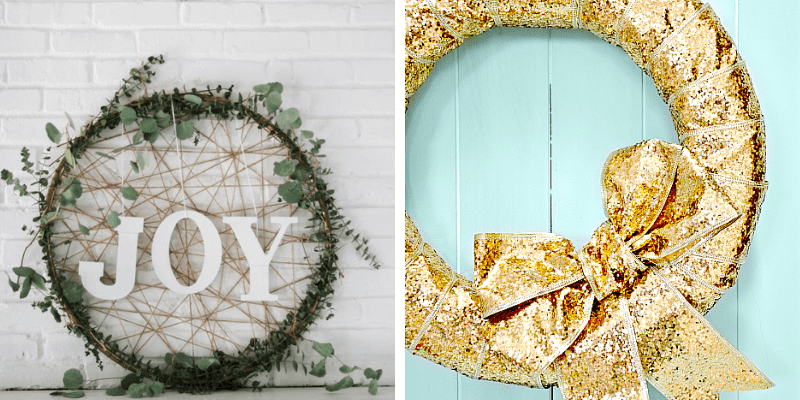 30 Gorgeous DIY Dollar Store Christmas Wreath Ideas - Are you looking to deck out your front door this Christmas? Here are 30 easy, cheap and beautiful DIY wreath ideas for you to try! #ChristmasWreaths #ChristmasWreathsDIY #ChristmasWreathIdeas #ChristmasWreathsToMake #ChristmasWreathsDIYEasy #ChristmasWreathsDIYDollarStore #diychristmaswreath #diychristmaswreatheasy #diychristmaswreathdollarstore #diychristmaswreathideas #diychristmaswreathtutorial