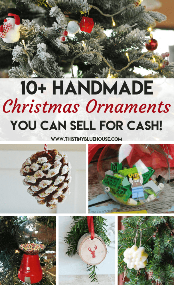 here are 18 gorgeous and unique diy christmas ornaments - Christmas Decorations To Make And Sell
