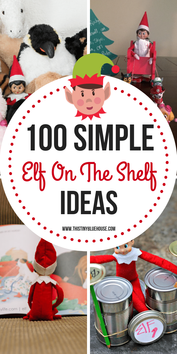 easy Elf On The Shelf ideas - Don't sweat your Elf On The Shelf this year and totally impress your kids! Here's 100 best easy Elf On The Shelf Ideas to totally rock Christmas this year! #ElfOnTheShelfIdeas #ElfOnTheShelfIdeasForToddlers #ElfOnTheShelfIdeasForKids #ElfOnTheShelfIdeasFunny #ElfOnTheShelfIdeasEasy #ElfOnTheShelfIdeas2018 #ElfOnTheShelfIdeasCreative #ElfOnTheShelfIdeasSimple