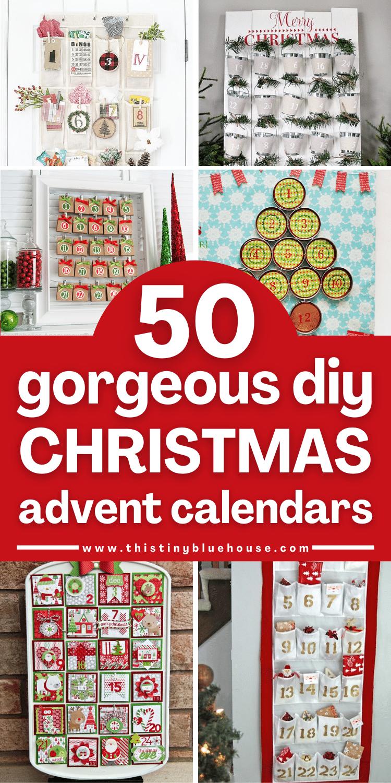 50 Gorgeous DIY Christmas Advent Calendars