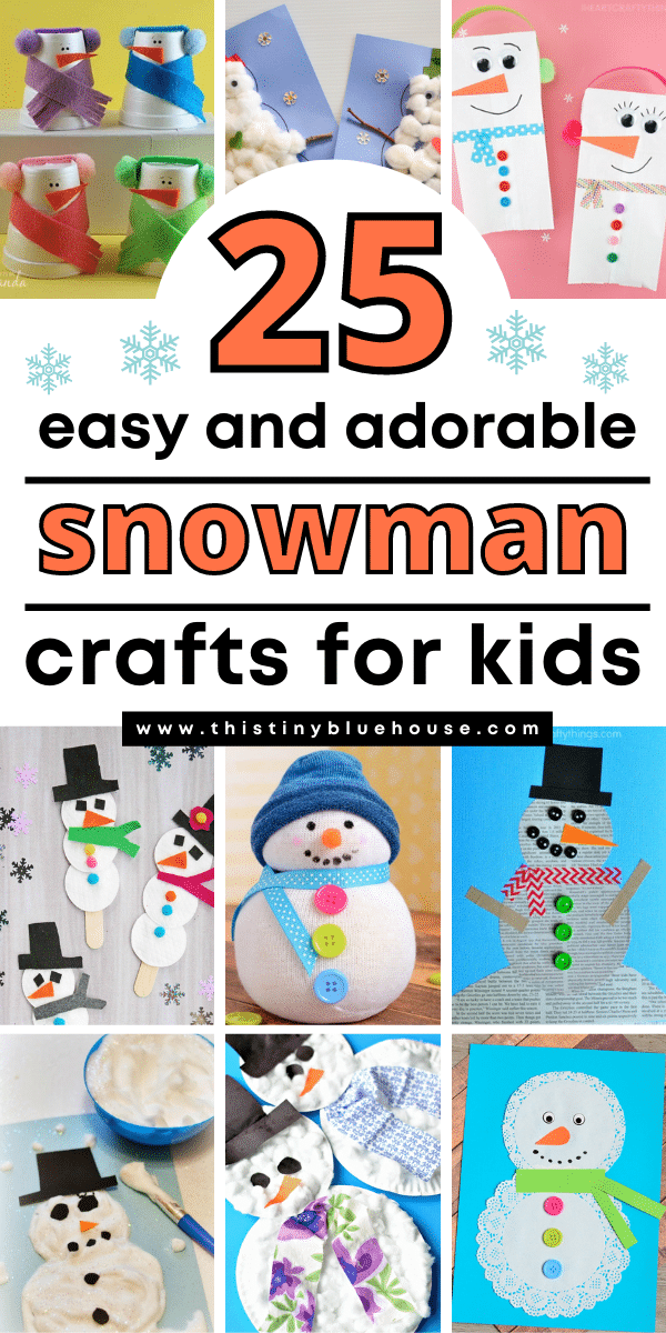 25 Cute and Easy Snowman Crafts For Kids