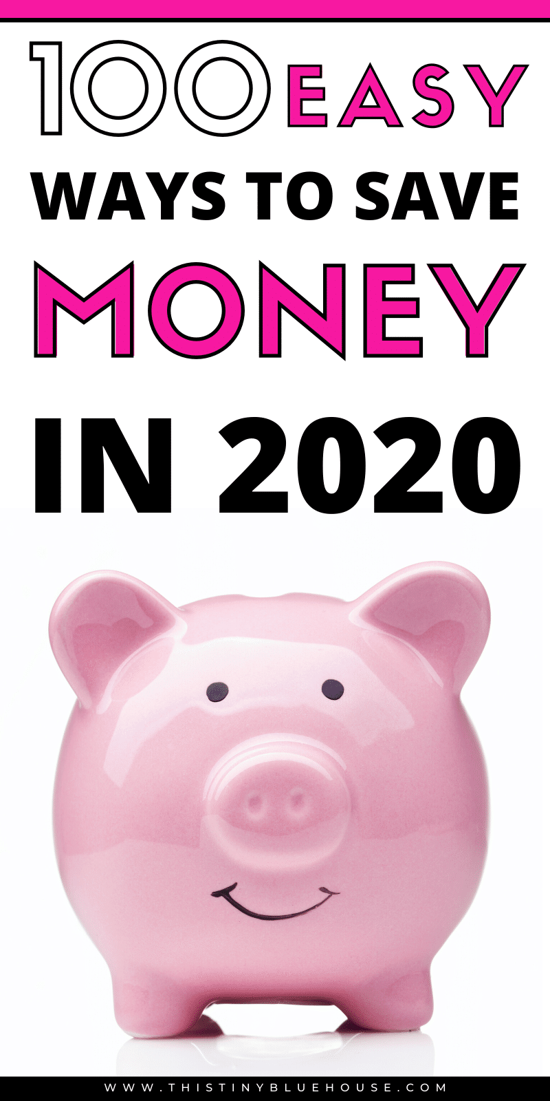 are you looking for realistic ways to save more cash in 2020? Here are 100 clever ways to save some extra cash every month! #frugalliving #waystosavemoney #easywaystosavemoney #moneysavinghacks #easywaystosavemoney #bestwaystosavemoney #simplewaystosavemoney