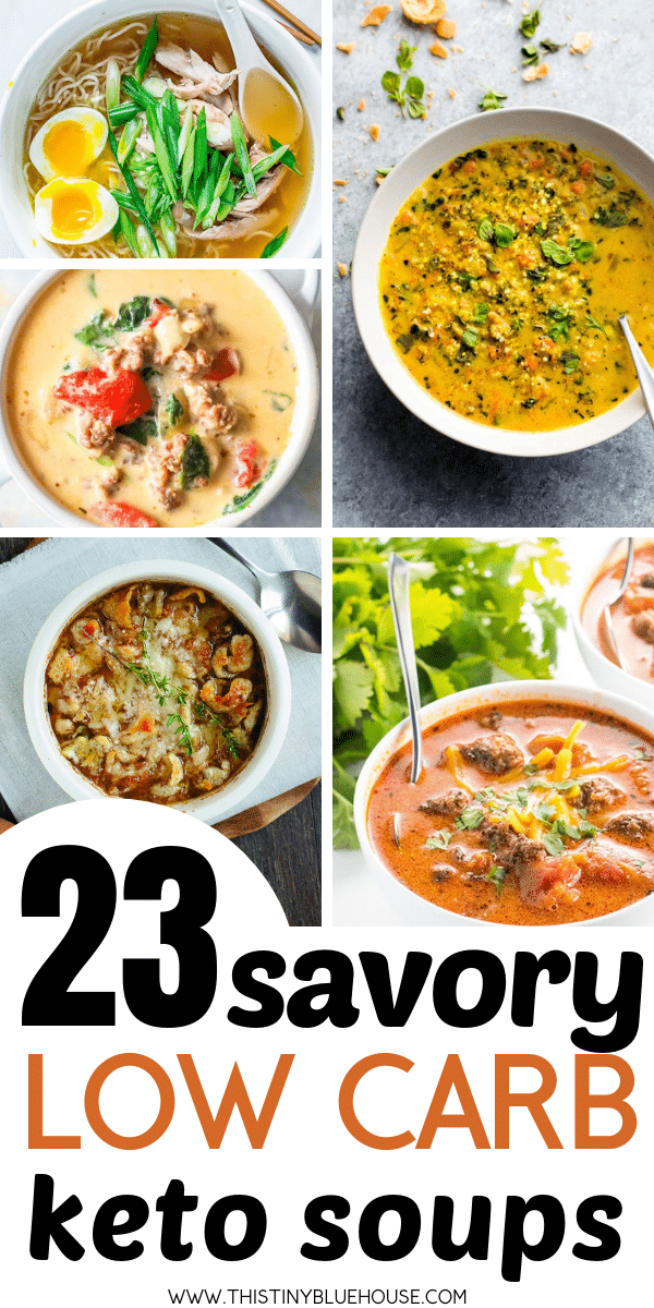 Looking for the perfect hearty keto friendly soup? Here are over 20 of the best and most delicious hearty low carb keto soups that will keep you full. Perfect for a fall or winter dinner, these low carb keto soup recipes make a wonderful filling meal for the whole family. #ketosoups #ketosouprecipes #lowcarbsoups #ketogenicdietsoups #ketosoupeasy #ketosoupcreamy #ketosouphearty #fillingketosoup