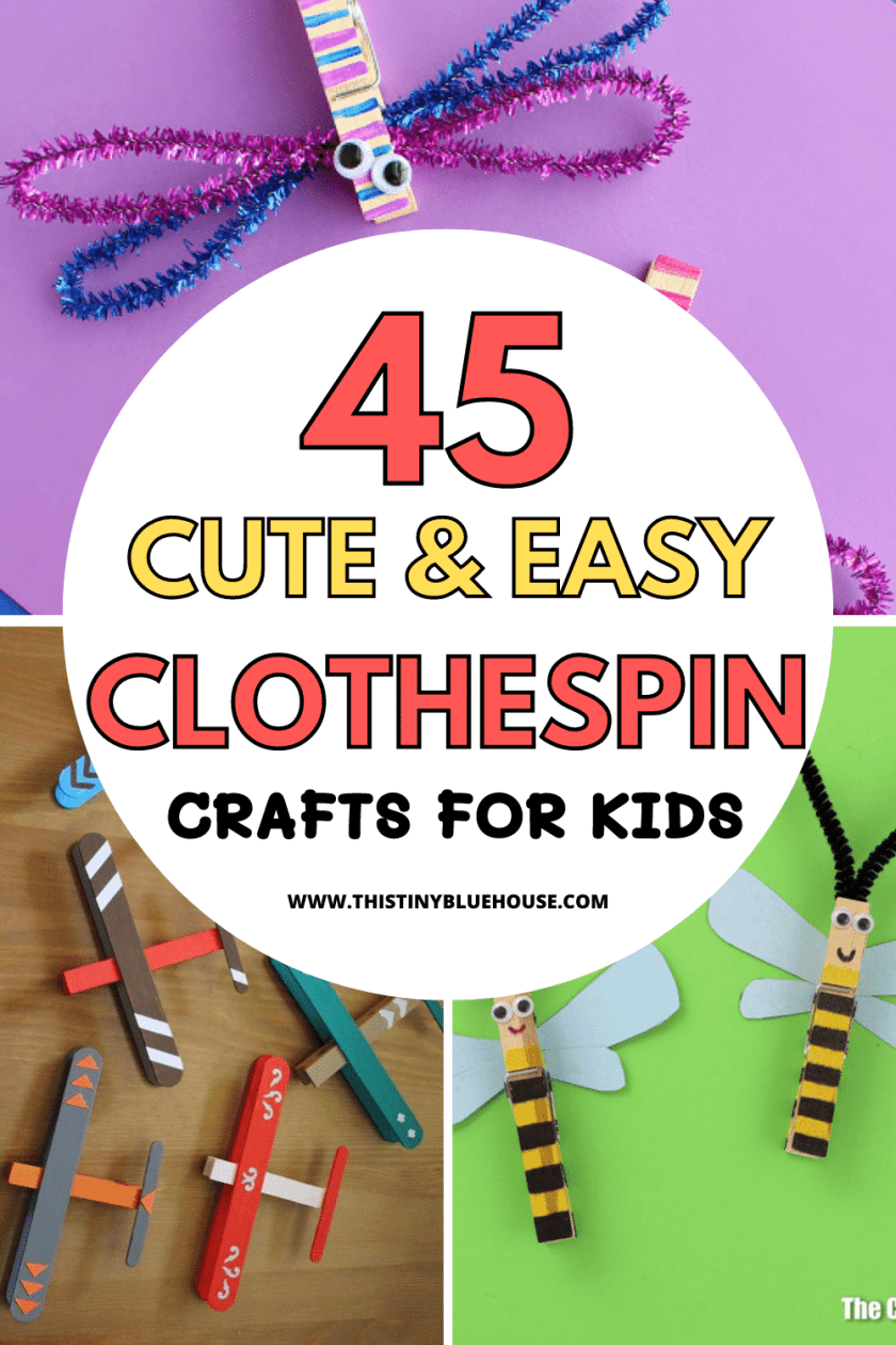 45 ADORABLE Clothespin Crafts For Kids You Gotta Check Out