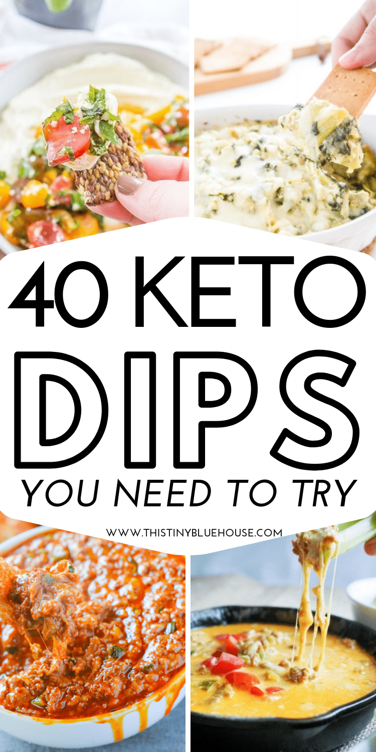 Enjoy these easy Keto Dips as a snack or appetizer. Delicious and super easy to make these easy Keto dips are perfect for just about any event. They're so good you'll keep making them again and again. #keto #ketodips #ketoapps #ketorecipes #ketoappetizers