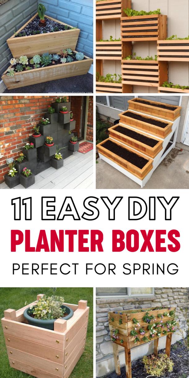 11 Creative Diy Planter Box Ideas For Spring This Tiny