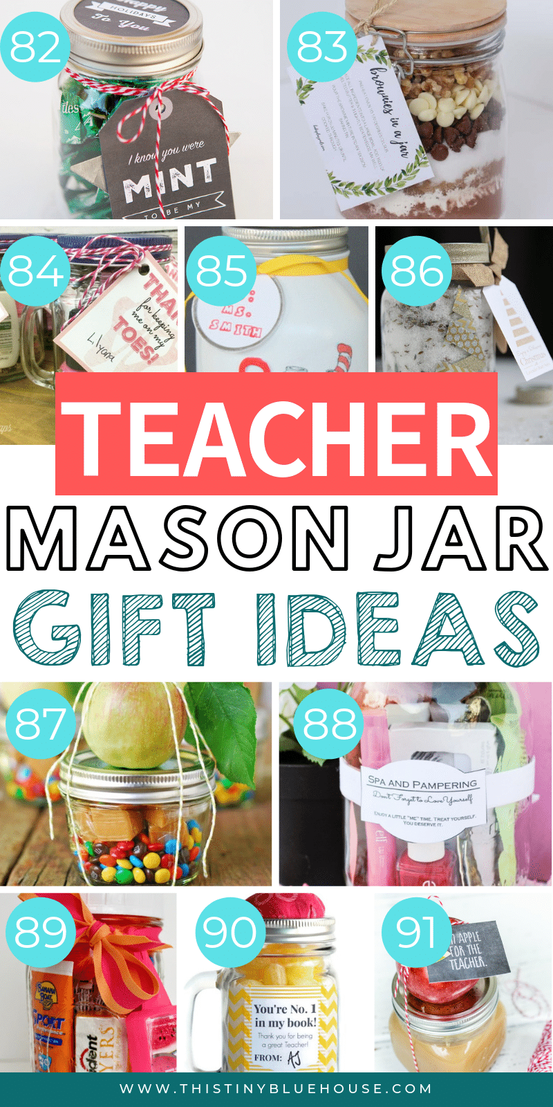 Are you looking for the perfect cute teacher appreciation gift to express your gratitude? Here are the absolute best cute mason jar teacher appreciation gifts. #teachergifts #teacherappreciationgifts #teachergiftsendofyear #teachergiftsdiy #easydiyteachergifts #homemadeteachergifts #uniqueteachergifts #giftsinajar