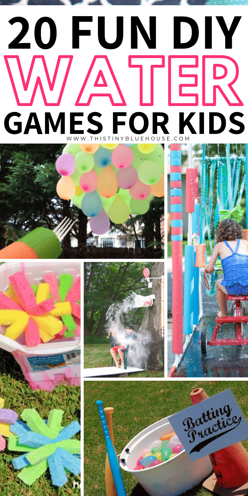 Here are 20 super fun DIY outdoor water games that are the perfect way to create hours and hours of backyard fun on the hottest summer days. #summer #diysummeractivities #diywatergames #diywateractivities #diysummerwatergames #funsummeractivities #boredombustingactivitiesforkids