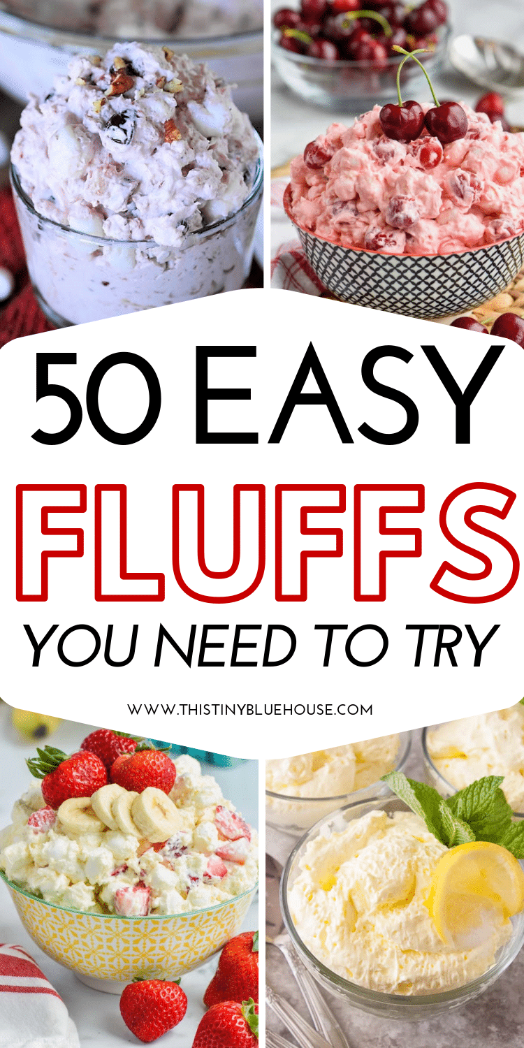 looking for an easy and refreshing dessert that's perfect for summer? Here are 50+ Best Fluff Dessert recipes! #fluffrecipe #fluffrecipemarshmallow #fluffrecipedesserts #fuitfluffrecipe #easyfluffrecipes #summerdesserts