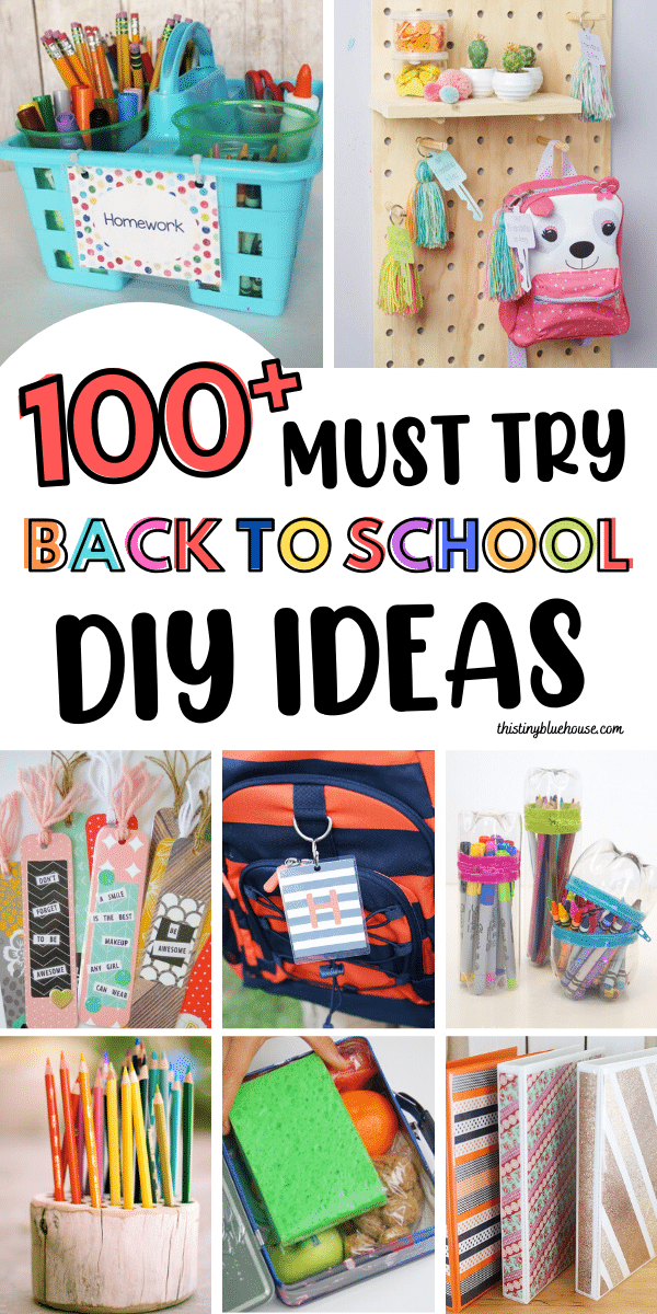 Make back to school exciting with these 125+ back to school DIY Ideas. From cute personalized noteboods to free printable lunch box notes these cute clever DIY back to school ideas and hacks are the best way to start a fresh new school year.