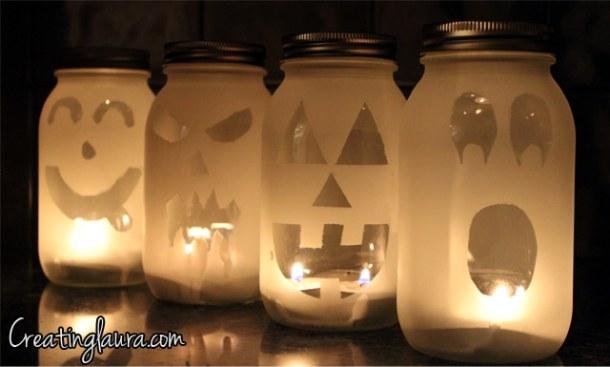 15 Cute DIY Halloween Mason Jars (Part 1)