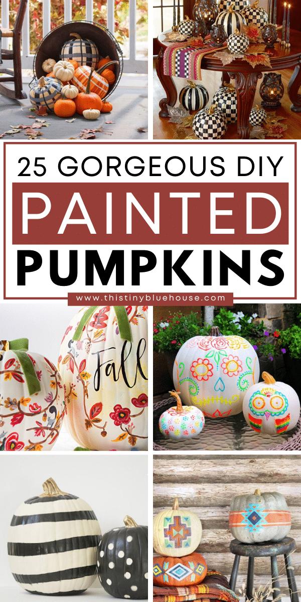 25 Easy DIY Fall Painted Pumpkin Tutorials