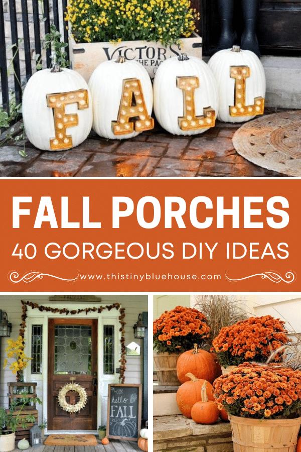 Best DIY Fall Porch Decor Ideas (40+ Must See Ideas)