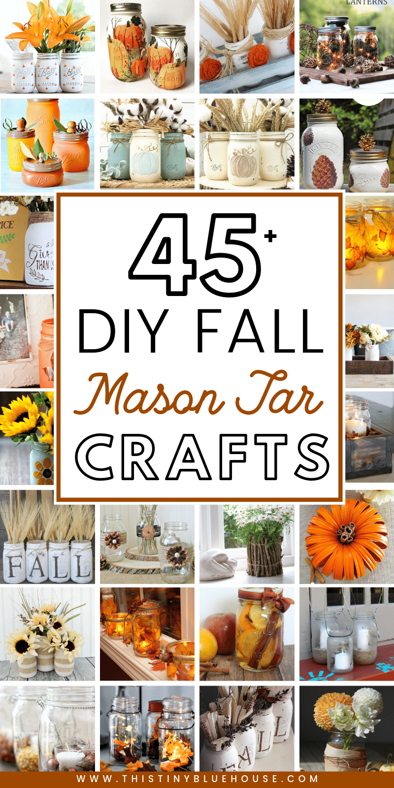 Get your home fall ready with these best fall mason jar crafts. Easy to make these best fall mason jar crafts are a fun way to glam up your home for autumn. #masonjarcrafts #masonjarcraftsforfall #masonjarcraftsDIY #fallmasonjarcrafts #DIYfalldecor #FallDIYdecor #DIYautumndecor #famrhousfalldecor