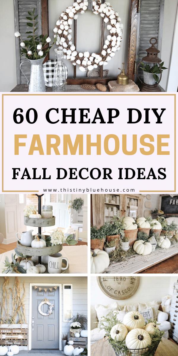60 DIY Fall Farmhouse Decor Ideas