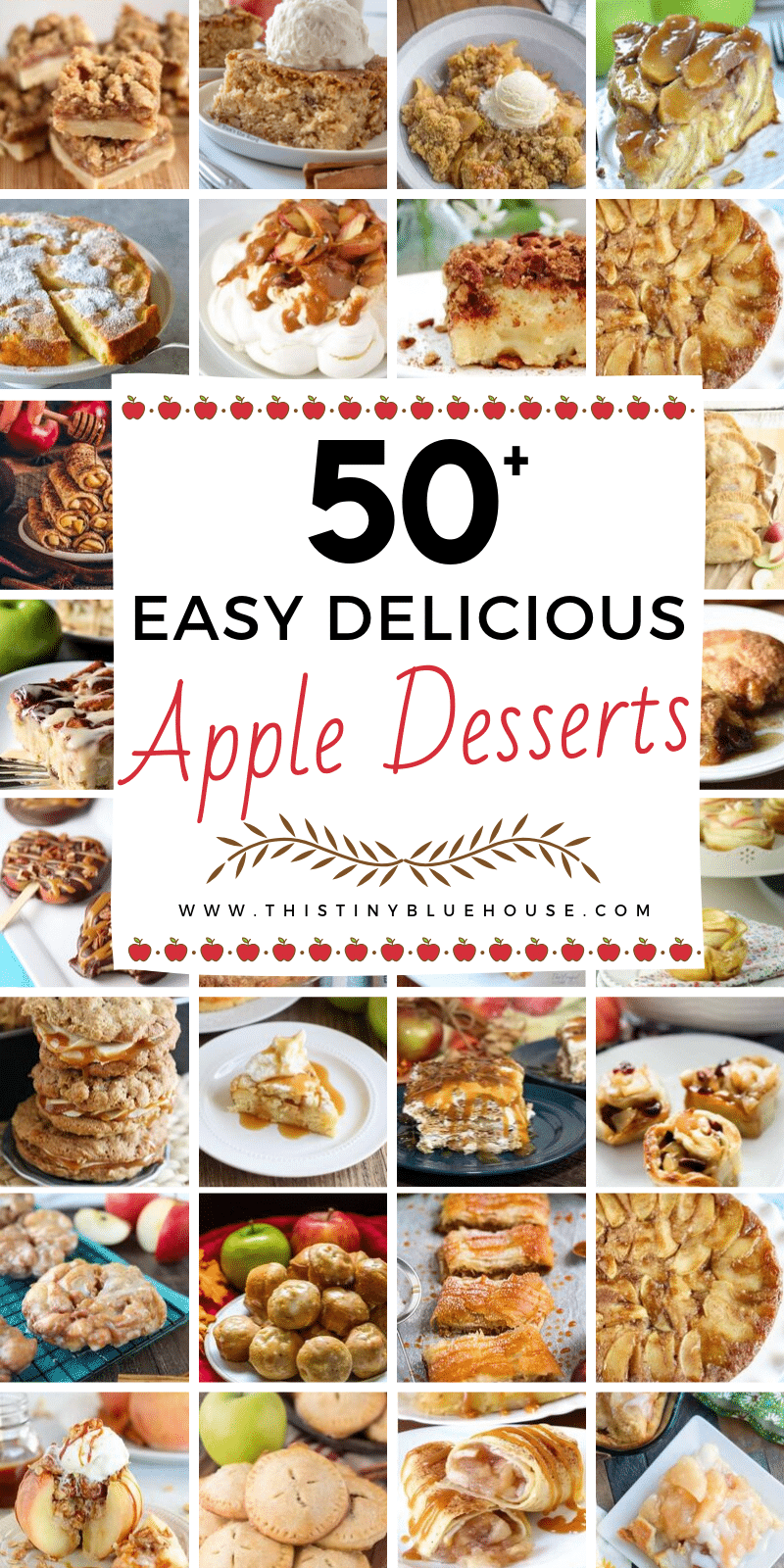 Are you looking for delicious fall apple desserts? Here are over 50 best fall apple desserts that are the perfect way to bake with yummy apples.#applerecipes #appledessertrecipes #applerecipesbaked #easyappledessertrecipes