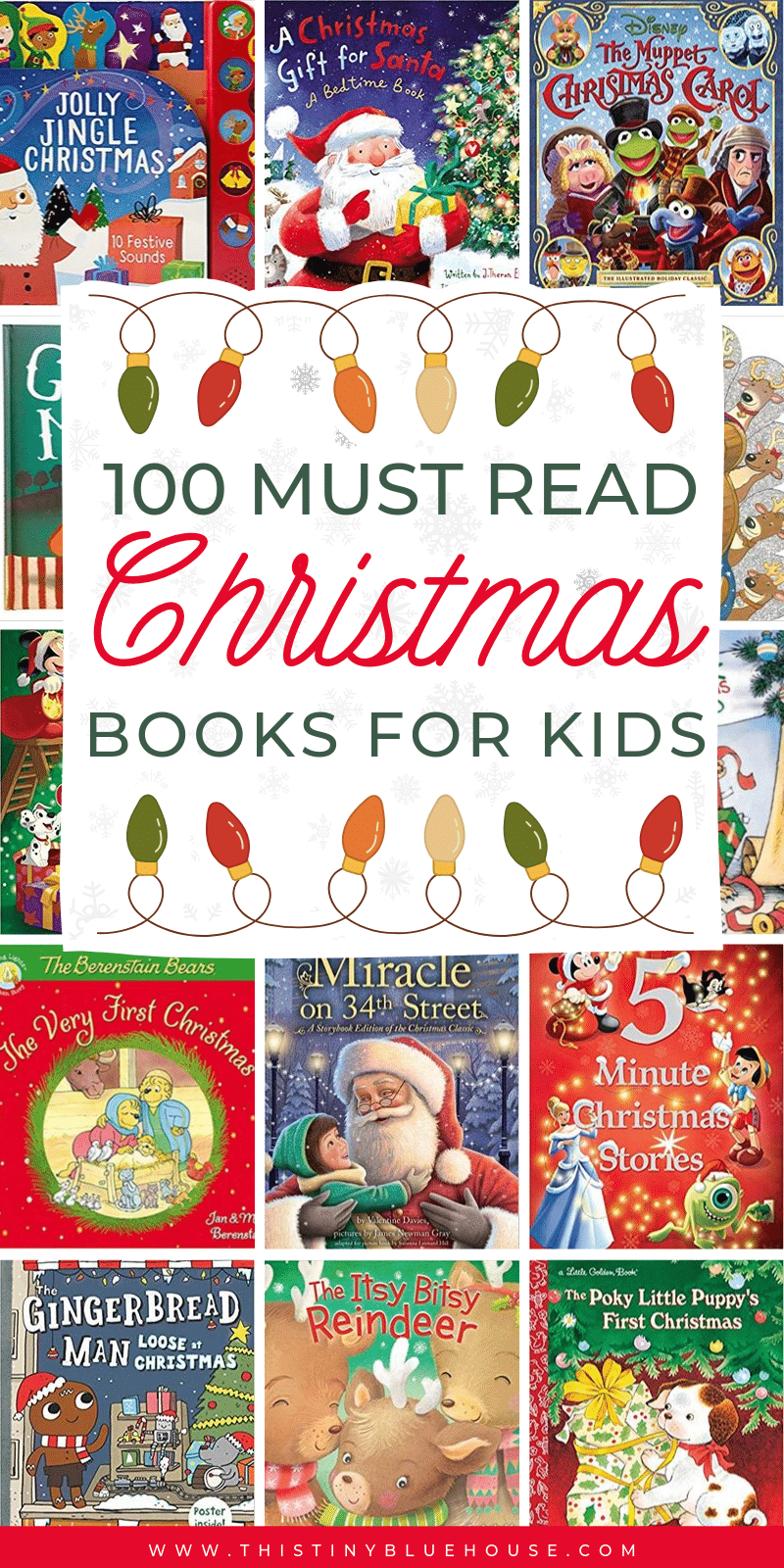 Are you looking to add a few festive books to your kids holiday reading list this year? Here are 100 Best Christmas books for kids of all ages. This ULTIMATE massive list of holiday books is perfect for kids as young as 3! #ChristmasBooks #ChristmasBooksKids #ChristmasBooksChildrens #ChristmasBooksForToddlers #ChristmasBooksPreschool #HolidayBooksKids #ChristmasBooksForKids