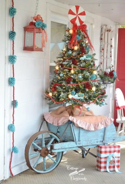 16 Rustic Christmas Porch Decor Ideas Style Motivation