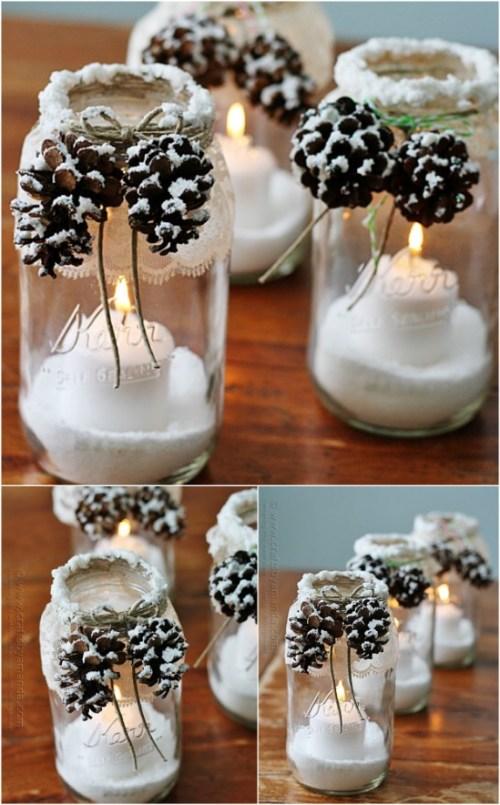 15 Mason Jar Christmas Craft Ideas