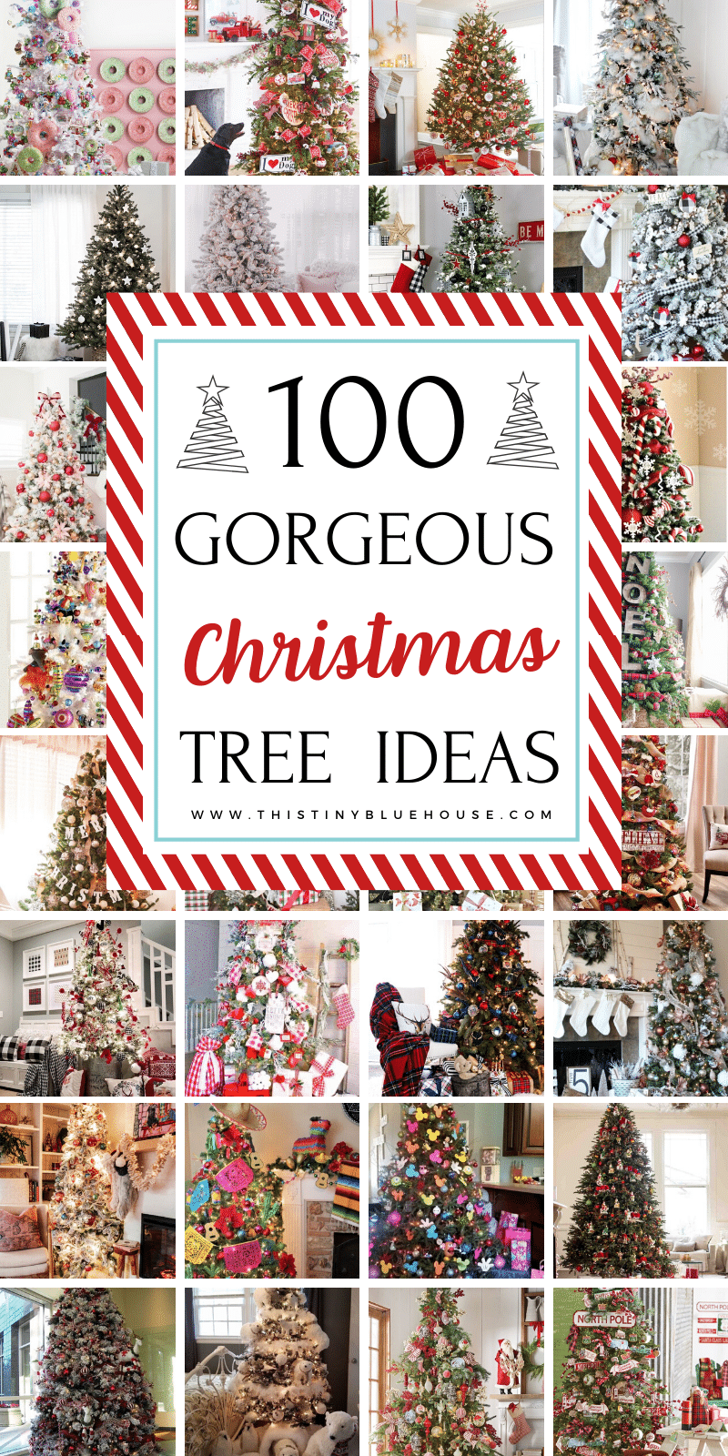 Here are over 100 best gorgeous festive Christmas tree decor ideas that you can use as inspiration for decorating your holiday tree. From traditional to minimalist there is a design style for everyone! #christmastree #christmastreeideas #christmastreedecorations #christmastreethemes #christmastreecolorschemes