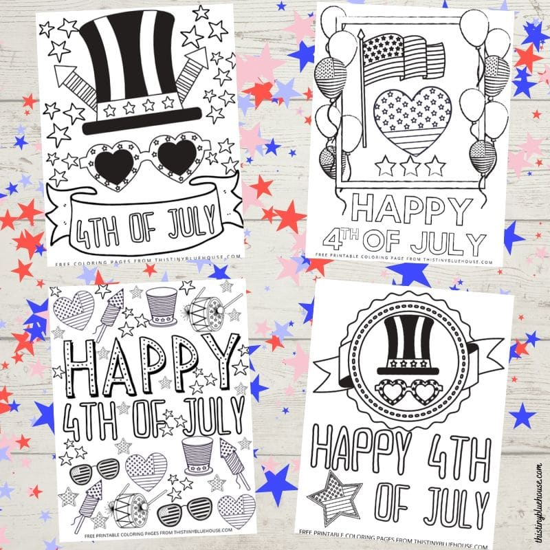 4 Patriotic Free Printable 4th Of July Coloring Pages This Tiny Blue House