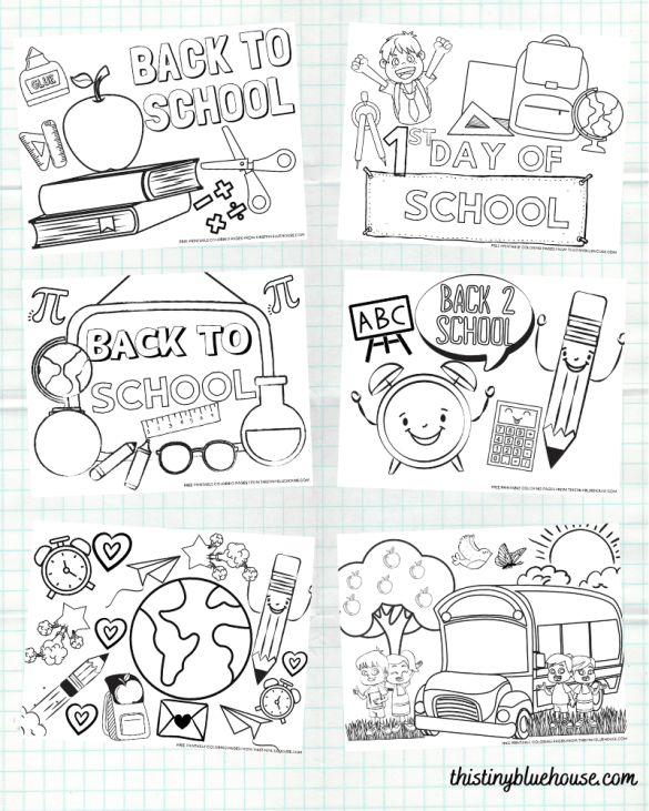 Celebrate the start of a new school year with these adorable and free printable back to school coloring pages that are perfect for even the youngest kiddos.