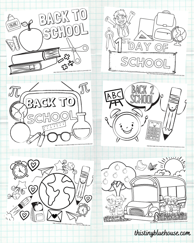 28 Cute Free Printable Back To School Coloring Pages For Kids
