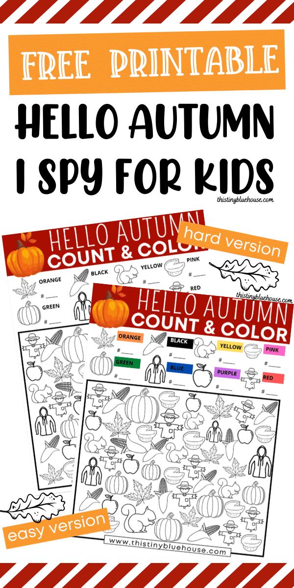 Fall I Spy For Kids (Free Printable)