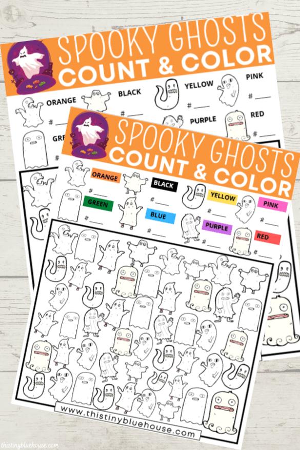 Spooky Ghost I Spy Halloween Free Printable