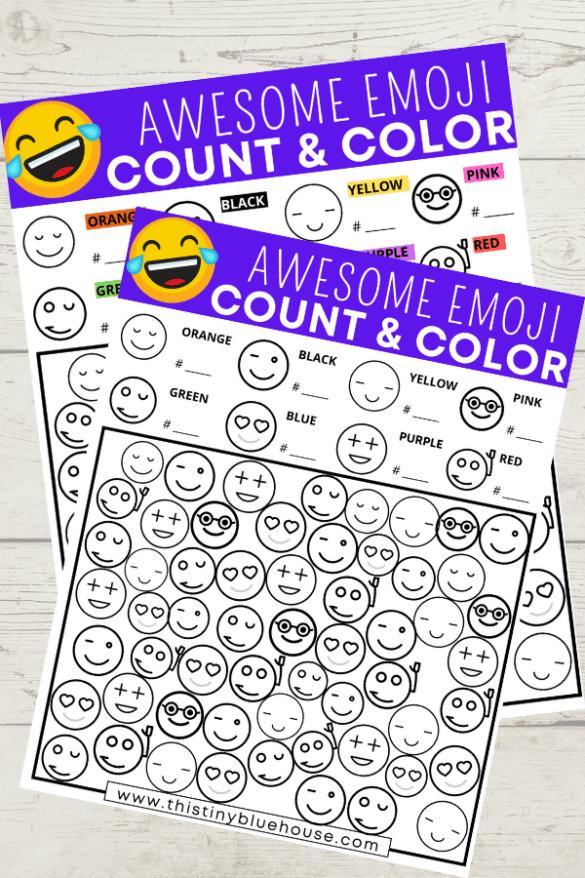 Free Printable Emoji I Spy Activity For Kids