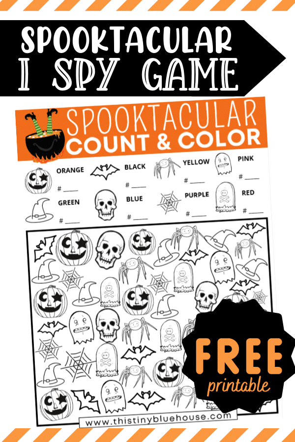 Free Printable Spooky Halloween I Spy Activity For Kids